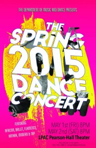 Dance Concert Poster Spring 2015