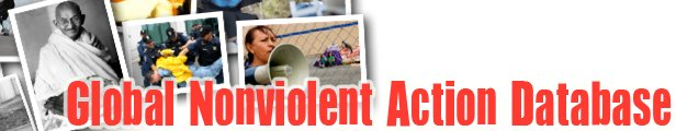 Global Nonviolent Action Database banner