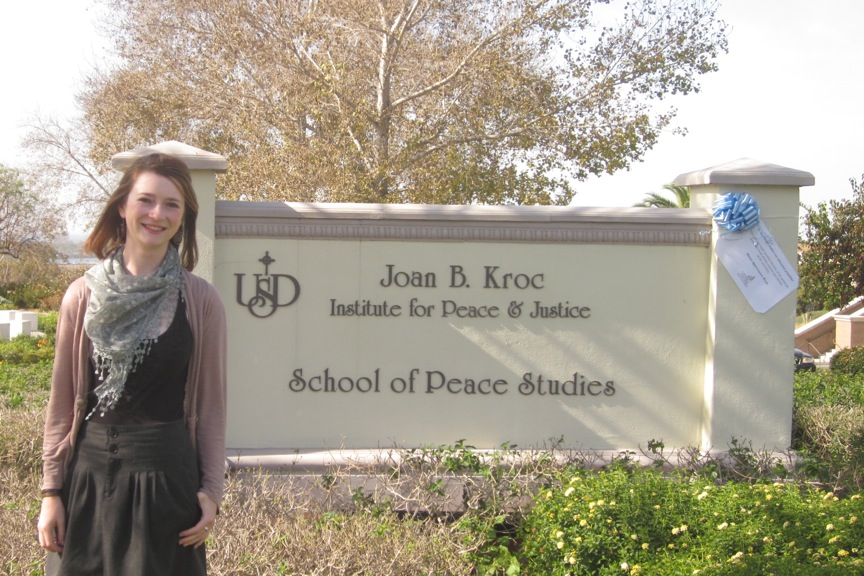 Meghan Auker Becker '11, Joan B. Kroc Institute for Peace and Justice Intern