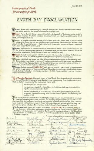 Earth Day Proclamation (image)