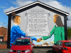 """No More"" mural, Northern Ireland"