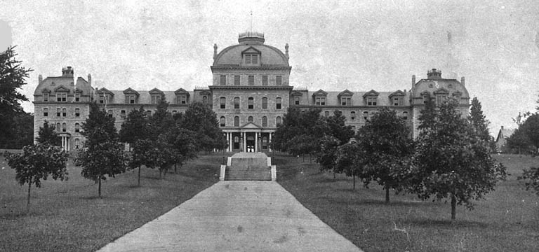 Parrish Hall after fire 1890