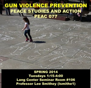 Peace Studies and Action Spring 2014 publicity