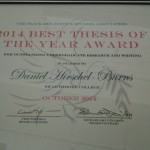 PJSA thesis award