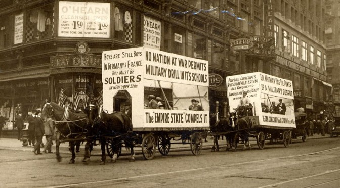 Anti-conscription demonstration 1916