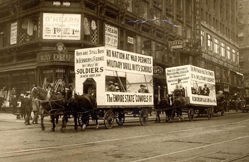 Anti-conscription demonstration 1916