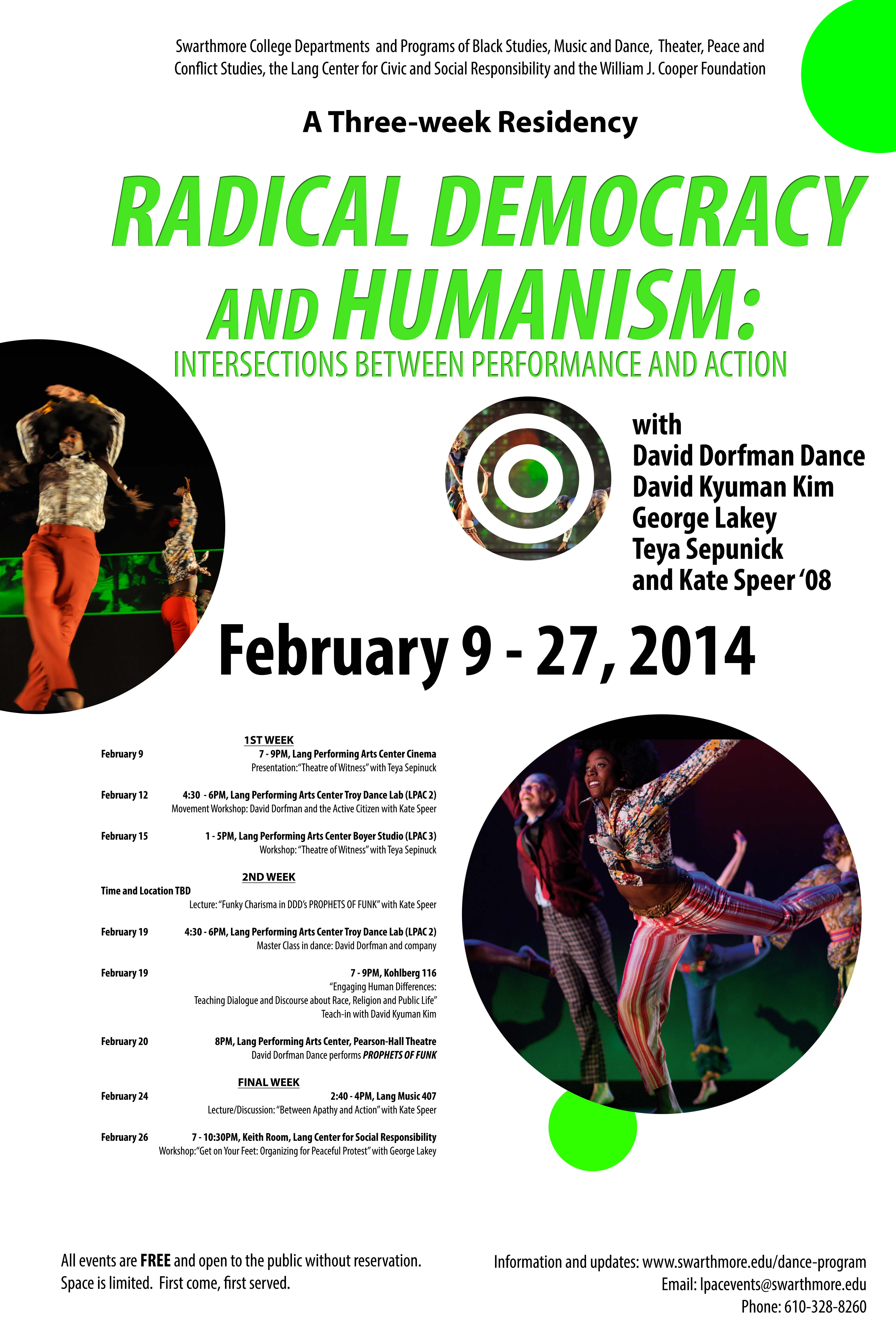 Radical Democracy and Humanism flyer