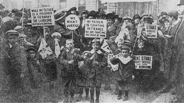 Glasgow rent strike 1915 BBC CC