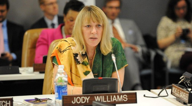 Jody Williams, Nobel Peace Prize Laureate, to speak at Swarthmore College