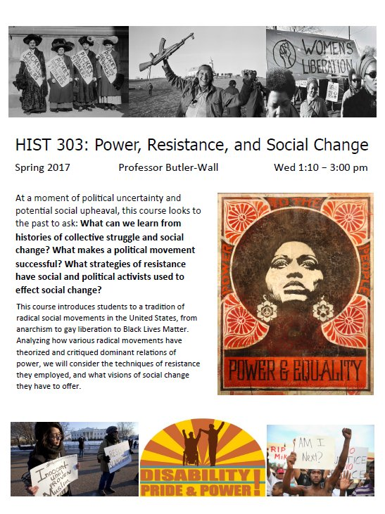 BM HIST 303 Power Resistance and Social Change
