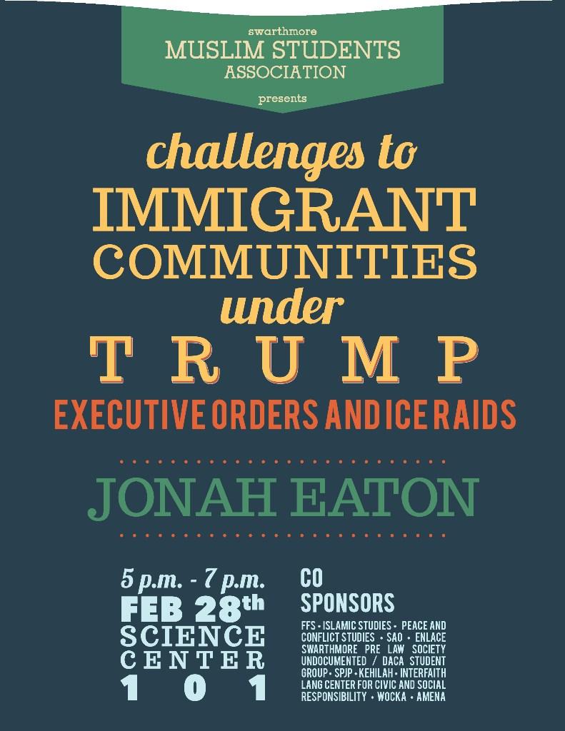 Trump immigration event Spring 2017