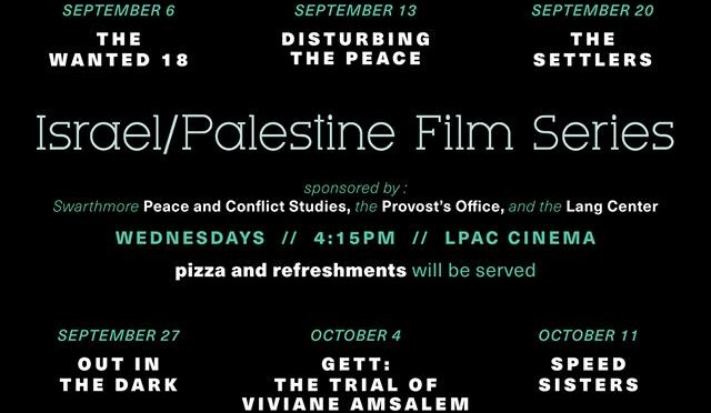 Israel/Palestine Film Series – Fall 2017