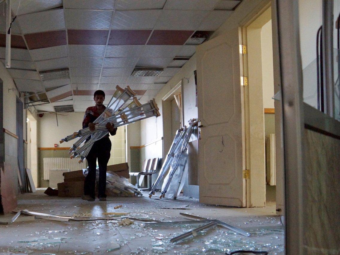 Alaa Al-Faqir_A damaged hospital in the town of Tel al-Shehab in Deraa, Syria July 23, 2015