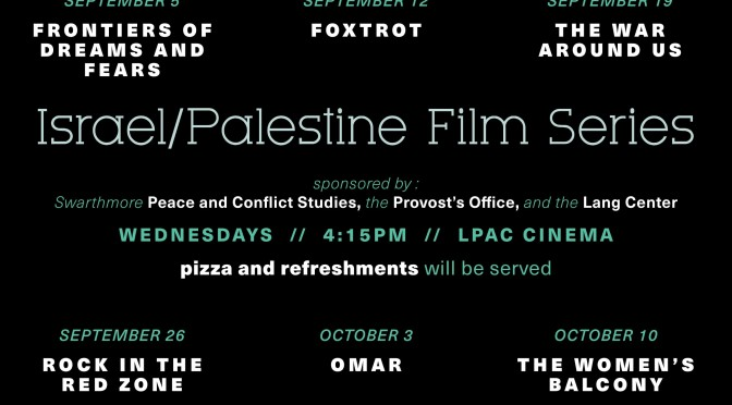 Israel/Palestine Film Series – Fall 2018