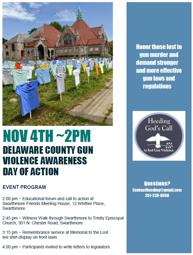 Delco gun violence awareness rally F18