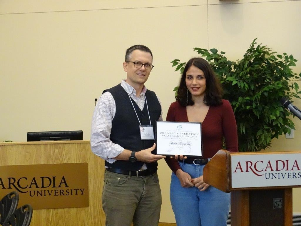Layla Hazaineh '20 receives PJSA Next Generation Peacemaker Award