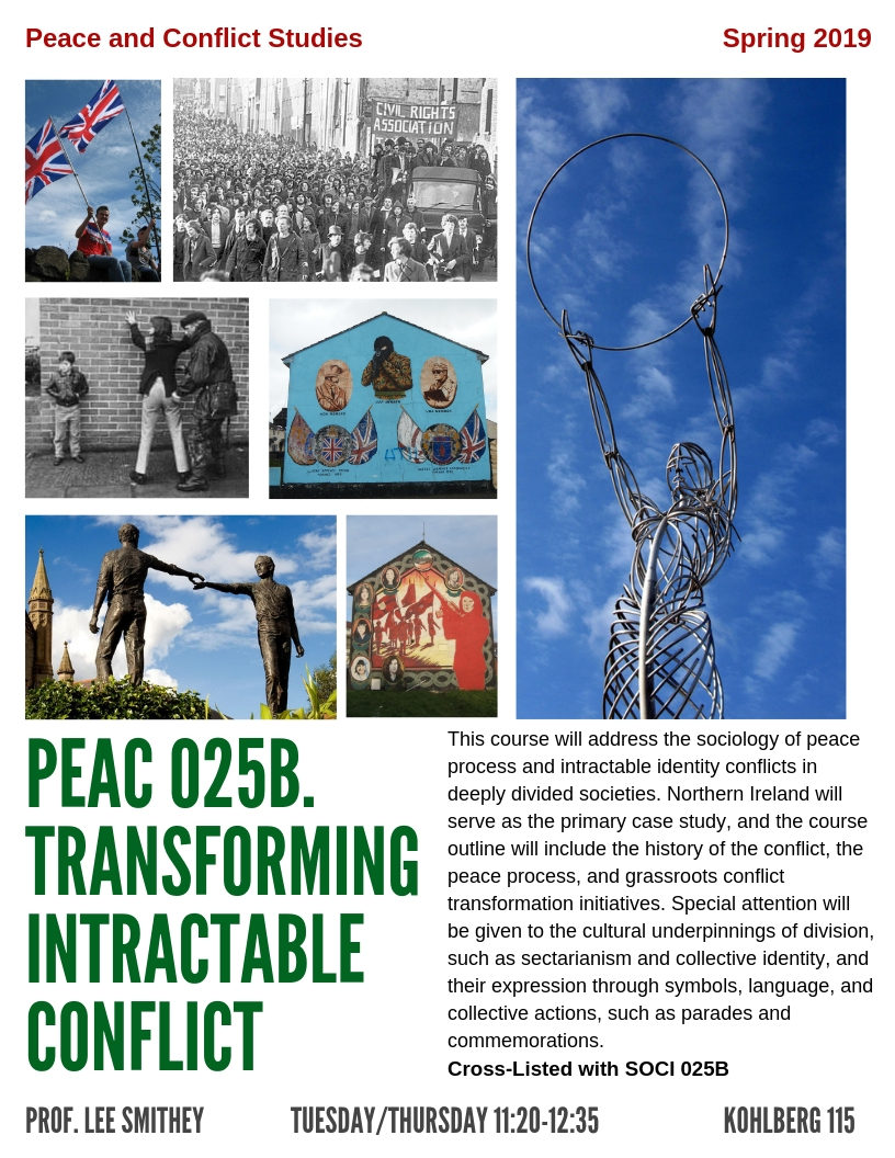 PEAC 025B. Transforming Intractable Conflict