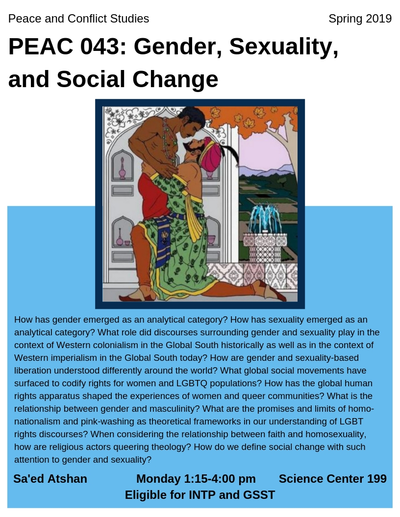 PEAC 043_ Gender, Sexuality, and Social Change