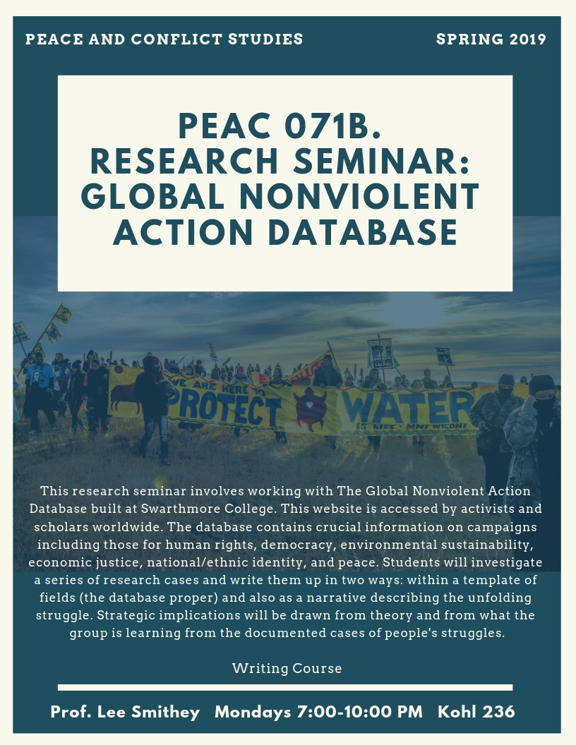 PEAC 071B. Research Seminar_ Global Nonviolent Action Database