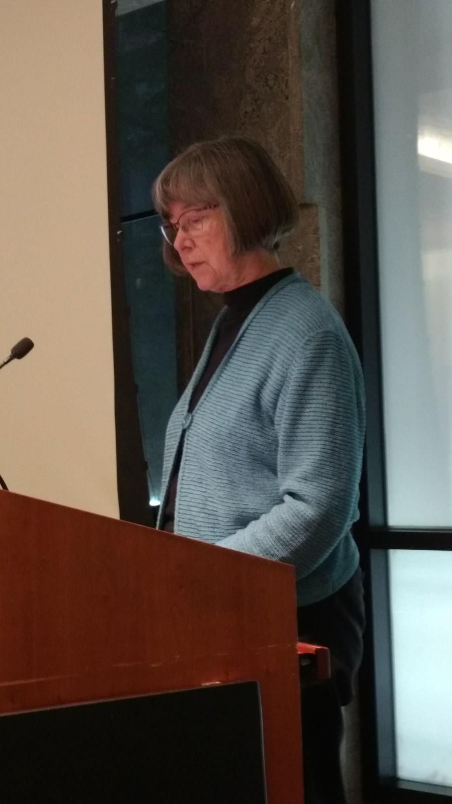Paula Palmer speaking