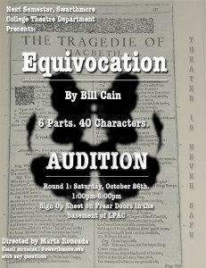Equivocation Audition Poster
