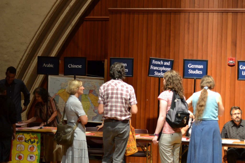 Students seek advice from departments