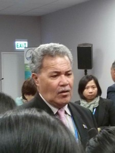 The Prime Minister of Tuvalu, Enele Sopoaga