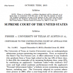 Picture of first page of the Supreme Court decision document.