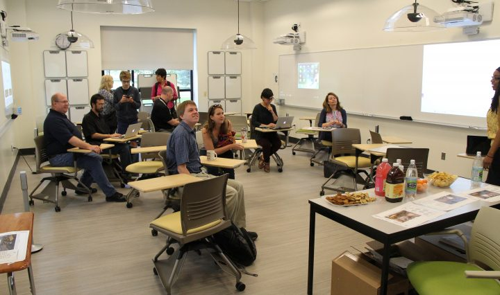 students in a classroom during a group activity