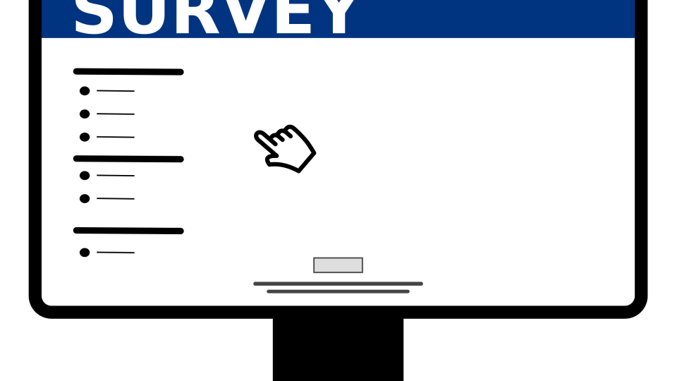 Computer with online survey