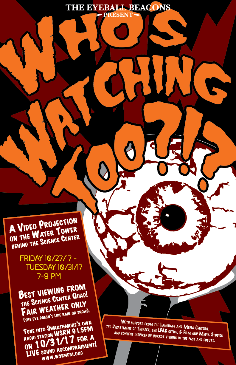 Poster for Who's Watching Projection Project