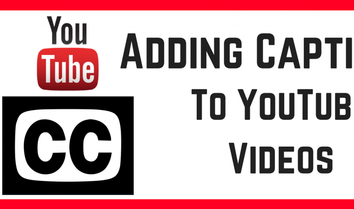 Adding caption to YouTube Videos with YouTube logo on top on closed caption symbol