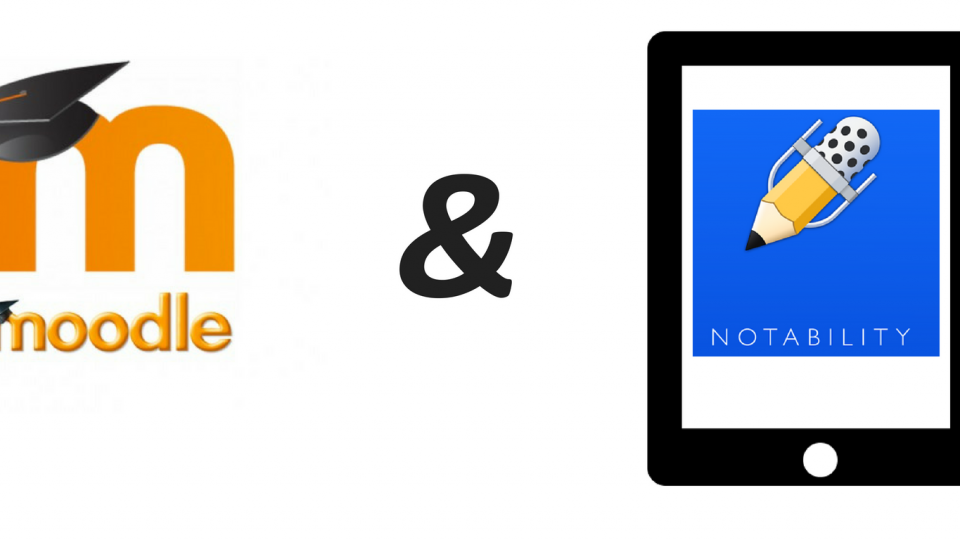 Moodle and Notability logo