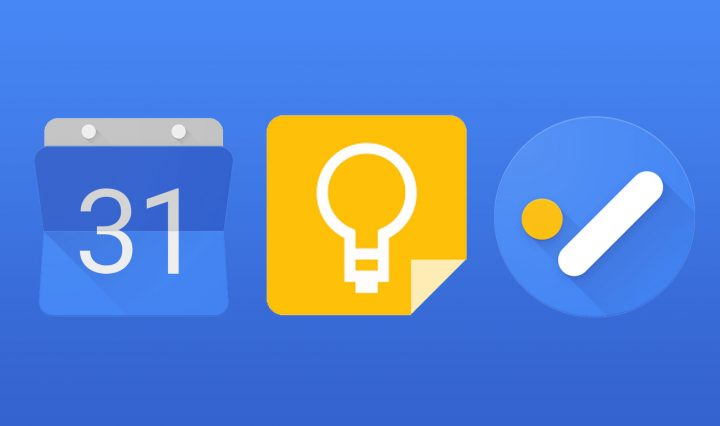 Google Productivity Features widget app icons