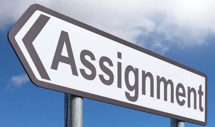 Assignment sign