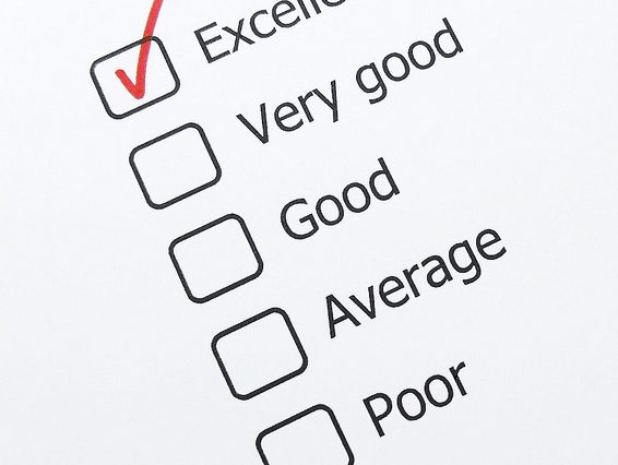 Image of rating question with Excellent checked