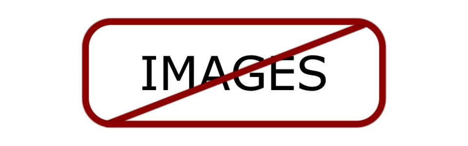 No Images within red rounded corner container with red slash running from corner to corner
