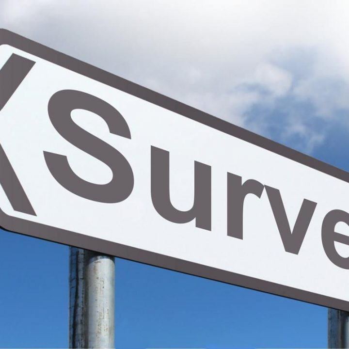 "A highway sign that reads ""Survey"""