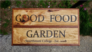 Laser engraved sign