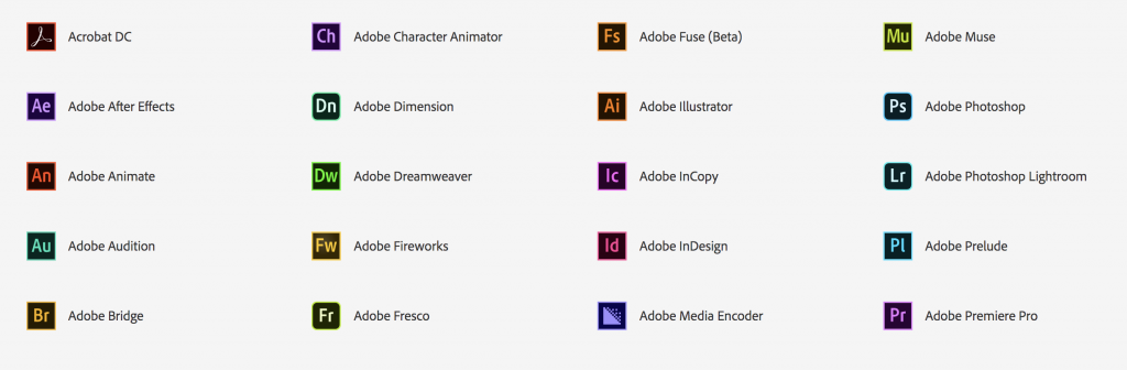 Adobe Creative Cloud apps image, page 1