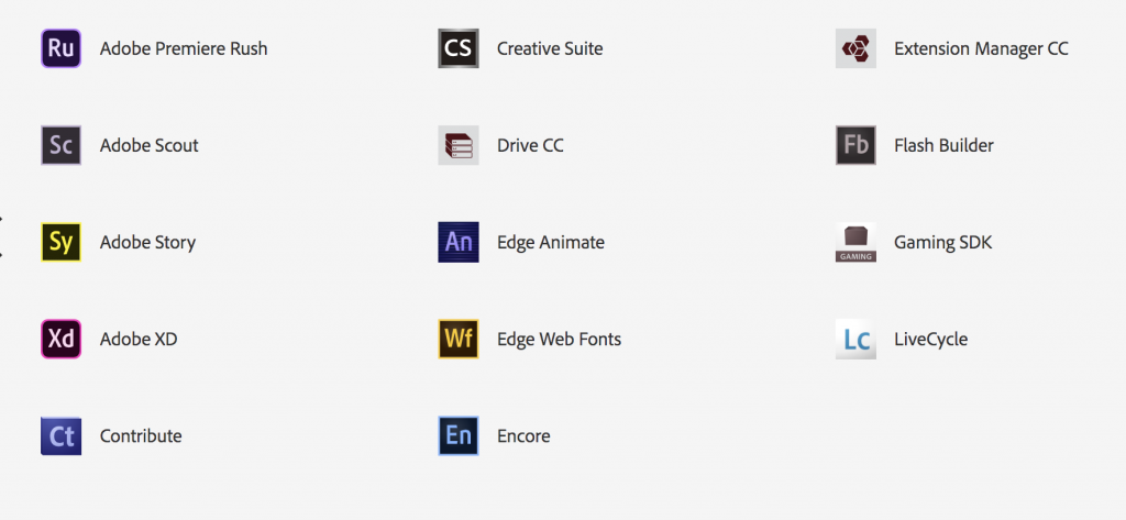 Adobe Creative Cloud Apps, page 2