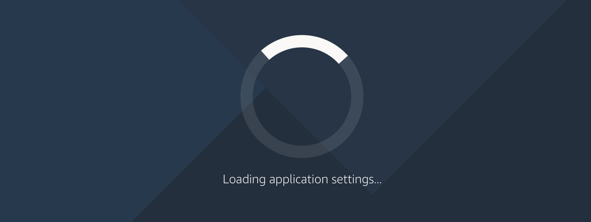 loading your settings