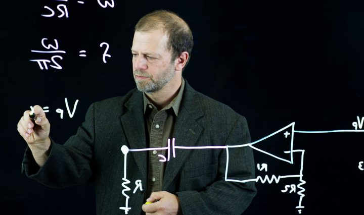 Lightboard application at Northwestern University.