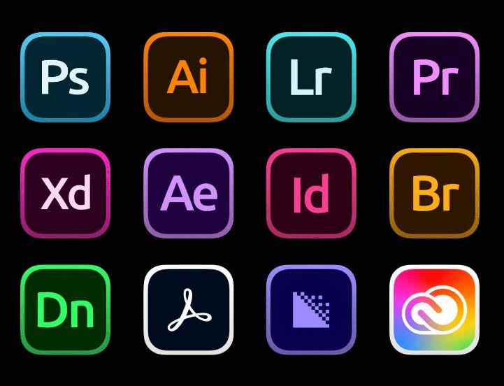creative cloud icons