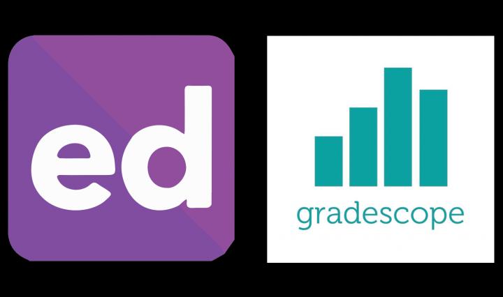 Ed and Gradescope logos